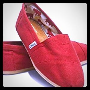 TOMS Red Classic Espadrille Flats from Toms